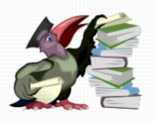 professional singing - bird and books