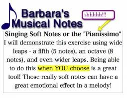 Singing High Notes Softly - or How to Sing Pianissimo!